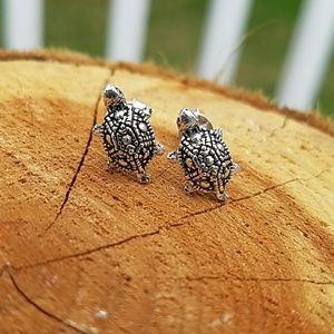 Jewelry - Sterling Silver 10mm Turtle Earrings